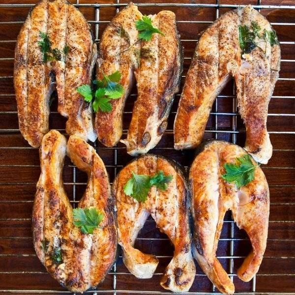 salmón a la brasa